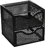 Rolodex Black Mesh Desktop Organization Cube (FG9E5600BLA)