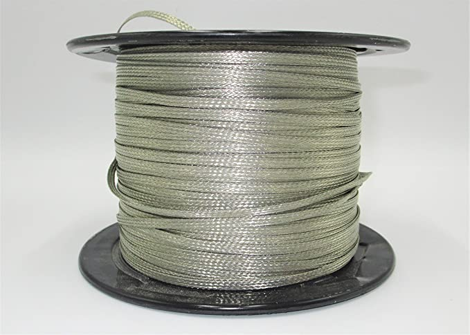 """15 FEET 3//4/"""" BRAIDED GROUND STRAP GROUNDING Tinned Copper Flat Braid MADE IN USA"""