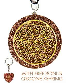 Amazon zzybia flower of life orgone pendant generator energy luvin life flower of life orgone pendant generator emf protection end of line clearance bonus aloadofball Choice Image