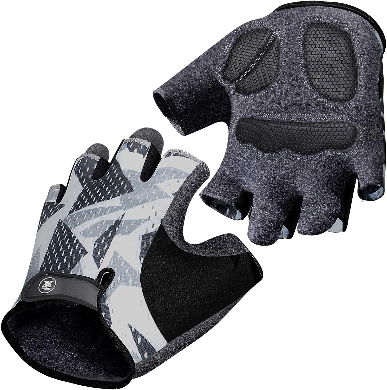 Mountain Bike Gloves for Men Women - Full-Palm Protection Cycling Gloves - Biking Gloves Fingerless Bicycle Gloves Men - Longwearing - Non-Slip Cycle Gloves Men