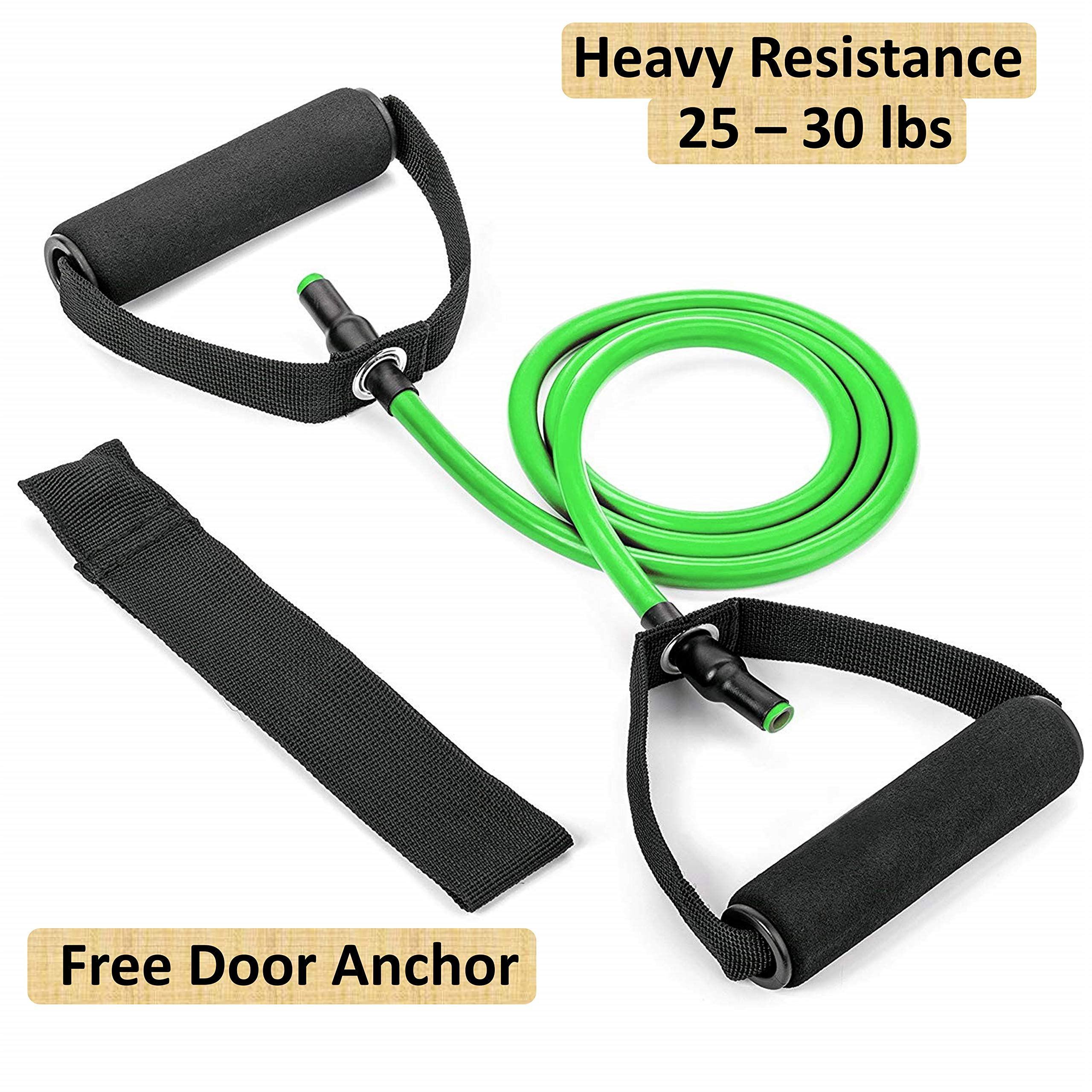 Tdas Resistance Band Stretch Latex Band Set Toning Tube for Heavy Workout Exercise Hard Light for Men Women Fitness, Physical Therapy product image