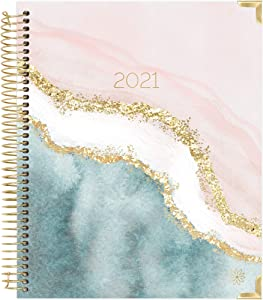 bloom daily planners 2021 Hardcover Calendar Year Goal & Vision Planner (January 2021 - December 2021) - Monthly/Weekly Column View Agenda Organizer - 7.5