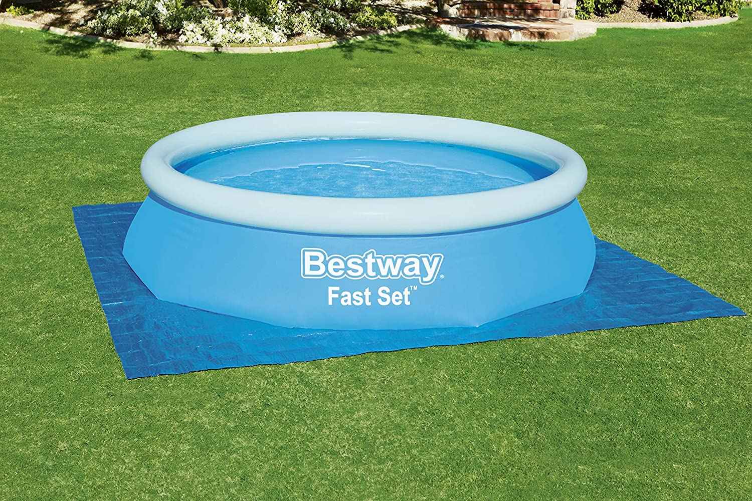 Bestway 58001 - Tapete de Suelo para piscina, 335x335 cm: Amazon ...