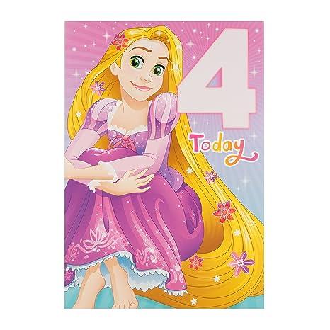 Hallmark Rapunzel - Tarjeta de felicitación de 4 cumpleaños ...