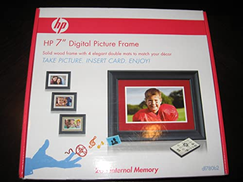 HP DF780B2 7 2GB Black Wood Digital Picture Frame with 4 Mats