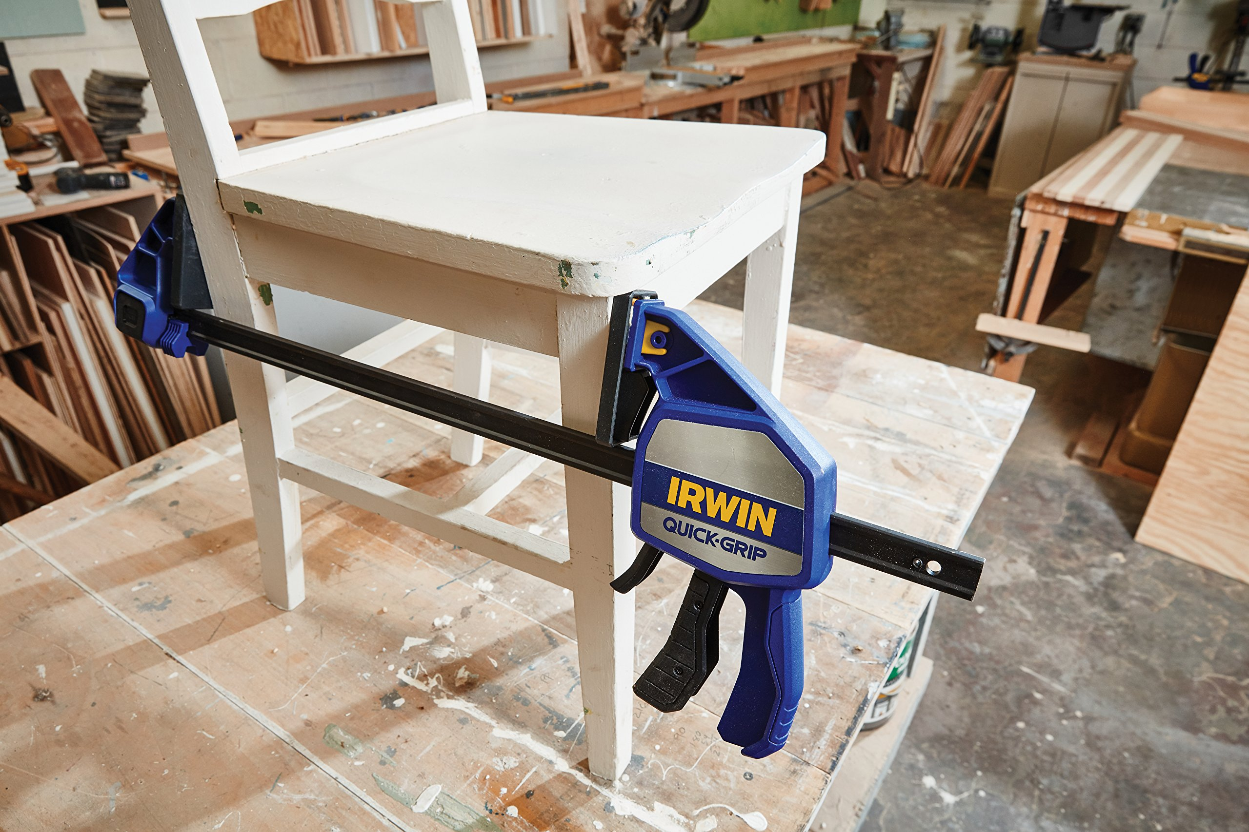 IRWIN QUICK-GRIP One-Handed Bar Clamp, Heavy-Duty, 24'', 1964714 by Irwin Tools (Image #5)