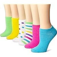 K. Bell Socks Women's 6 Pack Fashion No Show Liner Socks