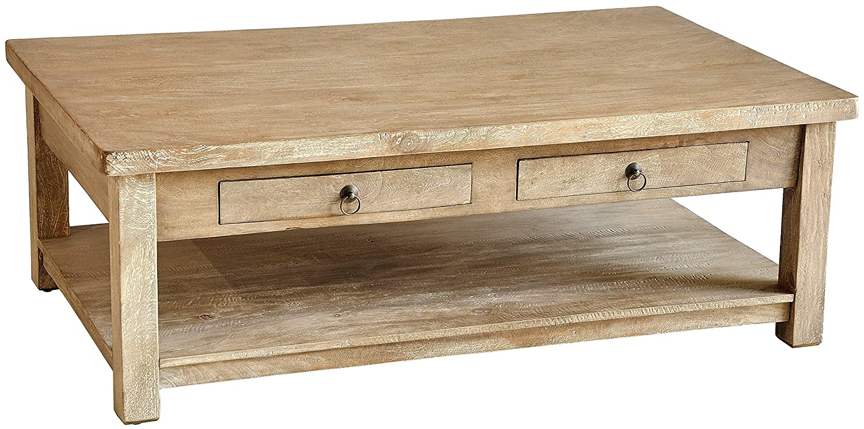 Amazon.com: Casual Elements Lodge Coffee Table, Rustic Mango Gray Wash:  Kitchen U0026 Dining