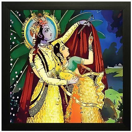 Unique Radha Krishna Wall Art Adornment - Wall Art Design ...
