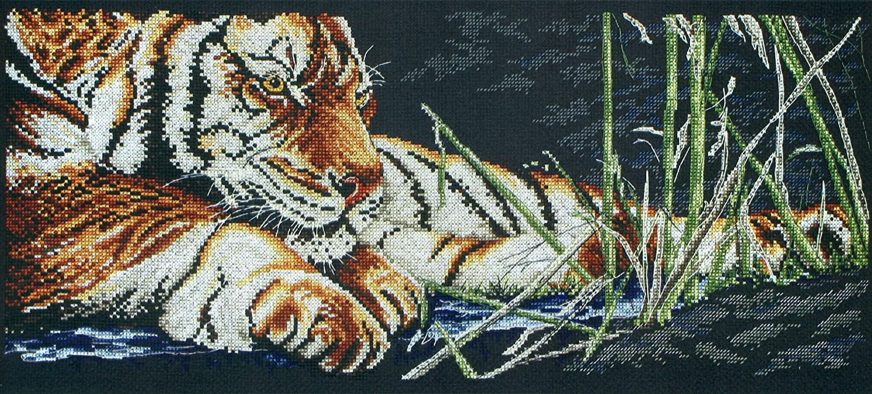 "Tiger 14 Count 7.5/"" x 18/"" Cross Stitch Kit-Anchor Premier Collection Czar"