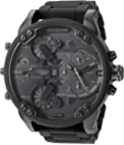 Diesel Men's DZ7396 Mr. Daddy 2.0 Black IP and Silicone Watch