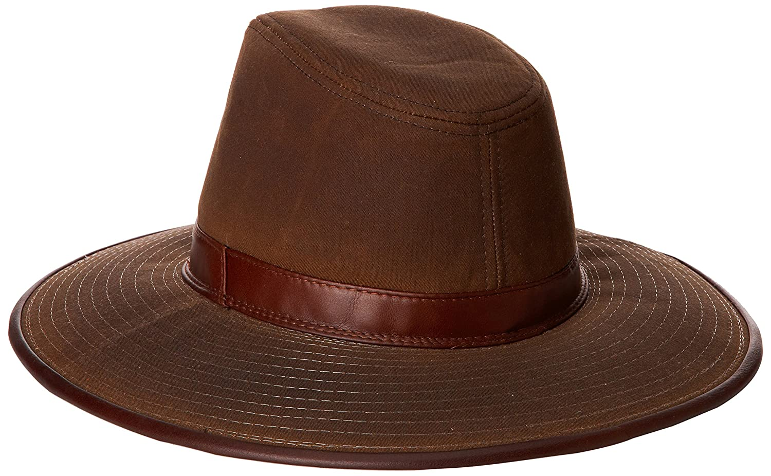 Dorfman Pacific Men s Oil Cloth Safari Hat With Leather Trim at Amazon  Men s Clothing store  Cowboy Hats 2eb2bb370985