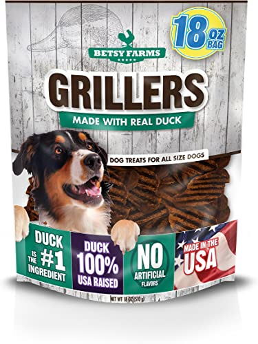 Betsy Farms Duck Grillers Dog Jerky Treats, 18 Oz Duck Jerky Treats For Dogs