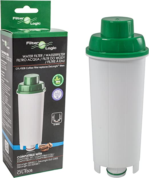 FilterLogic CFL-950B - Filtro de agua para cafetera automática de DeLonghi reemplaza el cartucho DLS C002 / DLSC002 / SER 3017 / SER3017 / 5513292811 con Máquina de café ECAM ESAM ETAM EC680 BCO: Amazon.es: Hogar