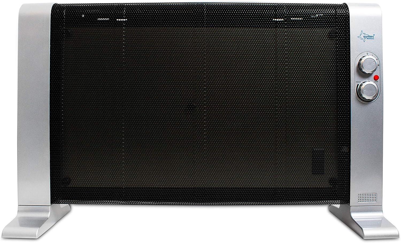 SUNTEC Calefactor de bajo Consumo electrico | Estufa electrica portatil | Radiador de Aire Caliente para el Frio | Calentador con termostato programable | Sin Gas ni Aceite | Heat Wave 1000 Style