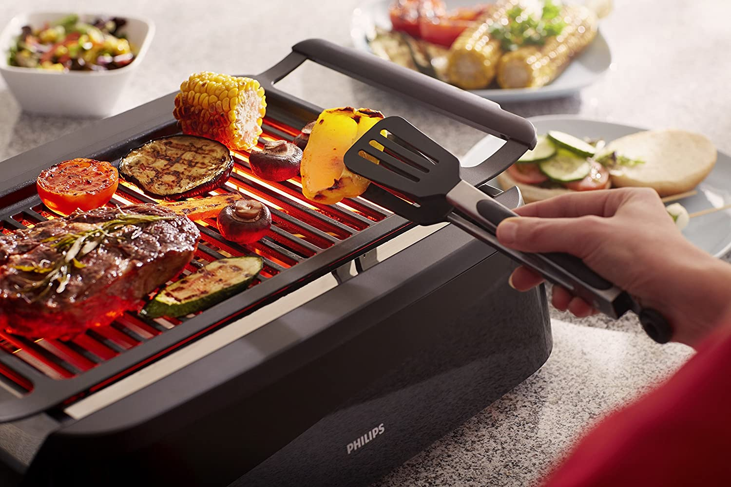 Amazon.com: Philips Smoke Less Indoor Grill HD6371/94: Kitchen U0026 Dining