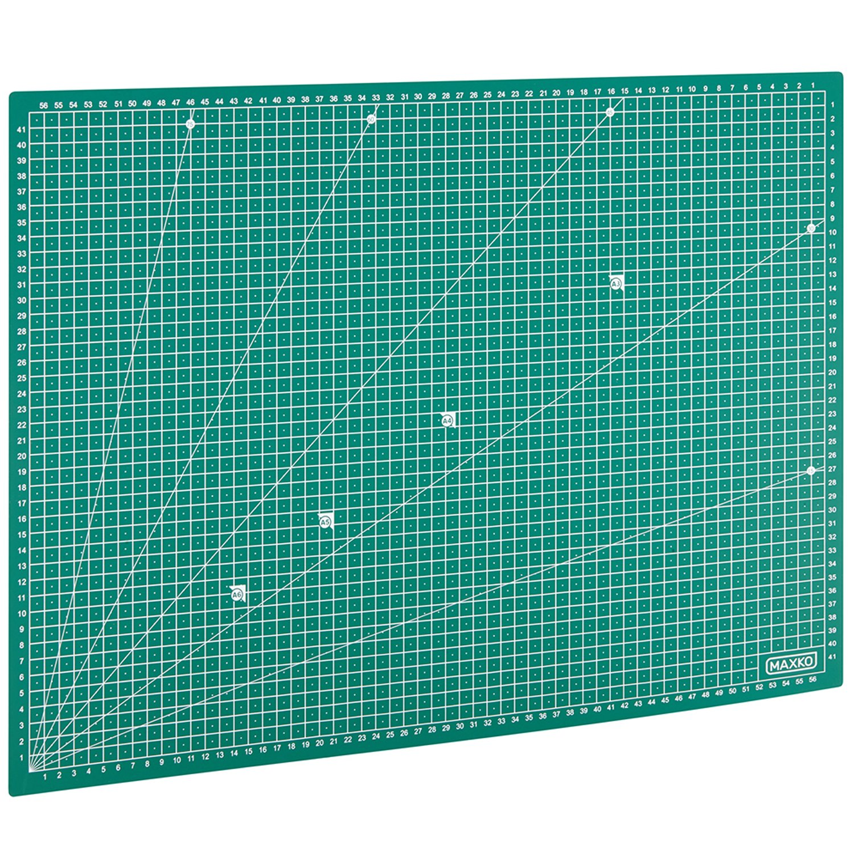 MAXKO Tappetino da taglio A2 (60x45 cm) autorigenerante con 2 anni di garanzia soddisfatti o rimborsati. Cutting mat, sottomano per scrivania, base per tavolo da lavoro Auerbach&Söhne