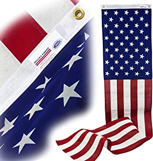 """product image for Valley Forge Decorative Banner 20"""" x 8' Polycotton 100% Made in U.S.A. 50-Star Pull Down Brass Grommets Printed Canton Sewn Stripes Model 08636050"""