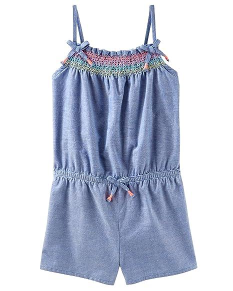 269cf9561 Amazon.com  Osh Kosh Girls  Sleeveless Romper  Clothing