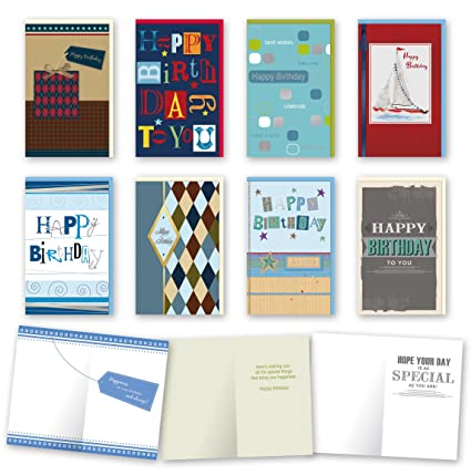 Amazon Assorted Male Birthday Cards Bulk Card Set Of 8 Cards