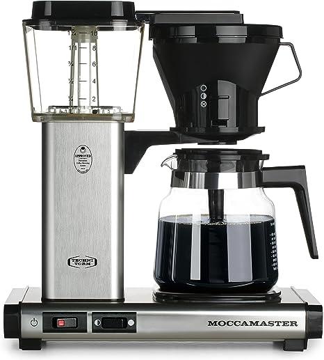 Cafetera Independiente, Cafetera de filtro, 1,25 L, De caf/é molido, 1520 W, Negro Moccamaster KBG 741 AO Independiente Totalmente autom/ática