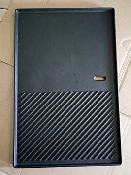 GP3 XXL plancha de hierro fundido/aprox. 48, 6 x 31, 8 cm/Reversible Placa/pizza placa/bratplatte para barbacoas de gas - para profesionales): Amazon.es: ...