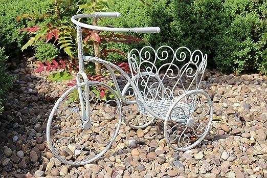Maceta de metal sobre ruedas para jardín flores y fronteras ...