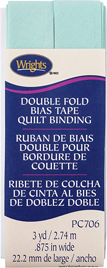 Wrights Cool Cucumber Double Fold Quilt Binding 7//8 X3yd