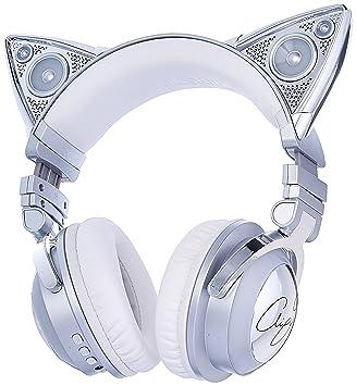 Brookstone Ariana Grande - Auriculares inalámbricos para con altavoz externo, micrófono Bluetooth y toques que cambian de color: Amazon.es: Electrónica