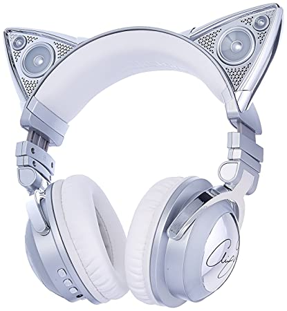 ddb5571f63f Amazon.com: Brookstone Limited Edition Ariana Grande Wireless Cat Ear  Headphones with External Speaker, Bluetooth Microphone, and Color Changing  Accents: ...