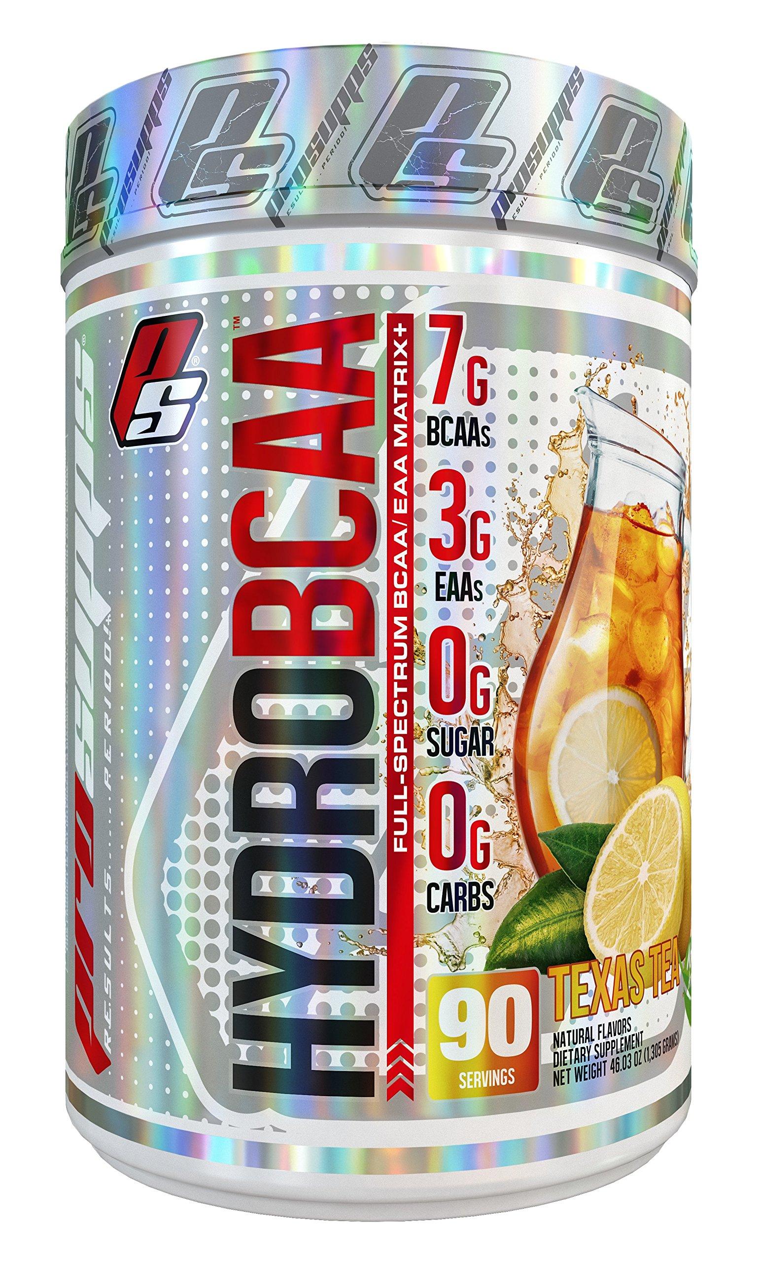 HydroBCAA BCAA / EAA Full Spectrum, 7g BCAAs, 3g EAAs, 0g Sugar, 0g Carbs, 90 Servings 46.03 oz. (Texas Tea Flavor)