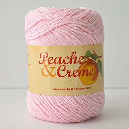 Amazon com: Peaches & Creme (Cream) Cotton Yarn Pastel Pink