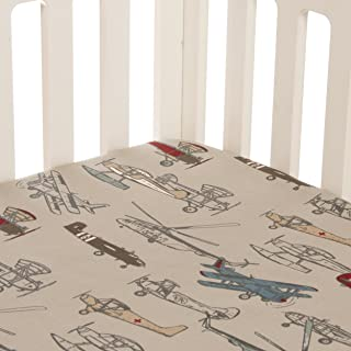 product image for Glenna Jean Fly-by Fitted Sheet, Airplane Print