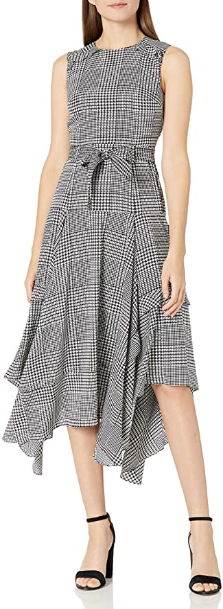 Calvin Klein 卡尔文克莱因 CK 圆领荷叶边连衣裙 2.1折$29.89 海淘转运到手约¥244