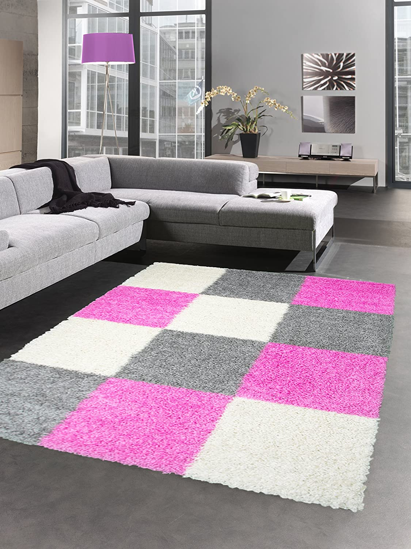 Carpetia Shaggy Teppich Hochflor Langflor pink Bettvorleger ...