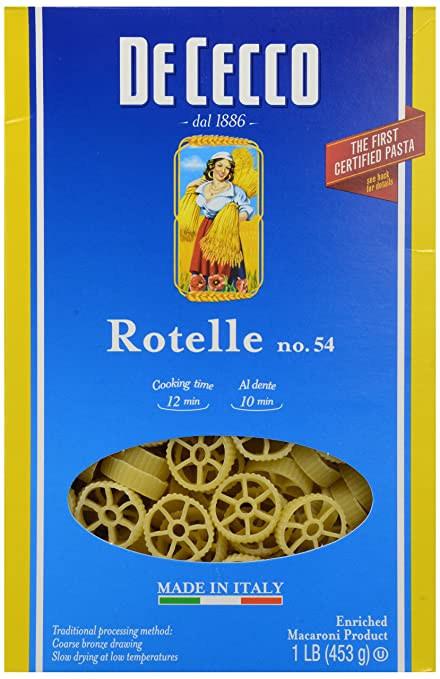 De Cecco Pasta Rotelle No.54, 16 oz