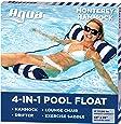 "Aqua 4-in-1 Monterey Hammock Inflatable Pool Float, Multi-Purpose Pool Hammock (Saddle, Lounge Chair, Hammock, Drifter) Pool Chair, Portable Water Hammock, Navy – Hammock, 10.25"" x 11.5"" x 1.5"""