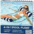 Aqua 4-in-1 Monterey Pool Hammock & Float, 50% Thicker, Patented Non-Stick PVC, Multi-Purpose Water Hammock (Saddle, Chair, H