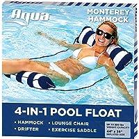 Aqua 4-in-1 Monterey Pool Hammock & Float, 50% Thicker, Patented Non-Stick PVC, Multi-Purpose Water Hammock (Saddle…