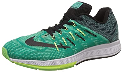 Nike Men's Flyknit Trainer Florescent Green and Black Running Shoes - 9 UK/ India (