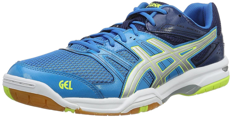 (12 UK, Blue (Blue Jewel/Glacier Grey/Safety Yellow)) - Asics Men's Gel-Rocket 7 Volleyball Shoes B00TXPA3KA