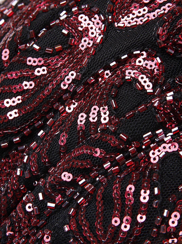 de77f2fd4834 Vijiv Women's 1920s Gastby Sequined Embellished Fringed Paisley Flapper  Dress JXJFN1945 larger image