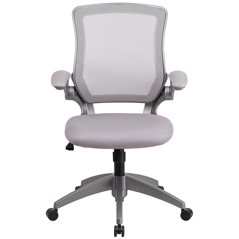 Amazon Flash Furniture Mid Back Gray Mesh Swivel Task Chair