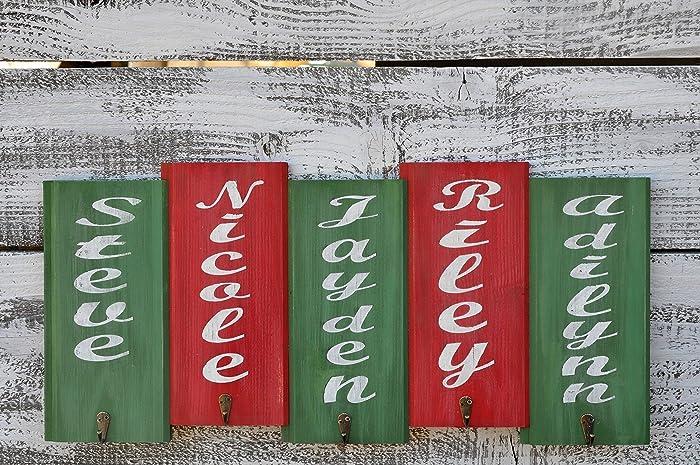 Christmas Stocking Holder.Amazon Com Christmas Stocking Holder With Distressed Finish
