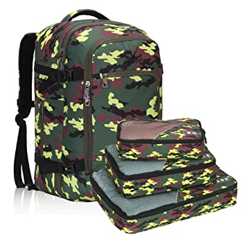 Amazon.com   Hynes Eagle Travel Backpack 40L Flight Approved Carry on  Backpack Yellow Camo with 3PCS Packing Cubes 2017   Casual Daypacks 7b59ca8ab7