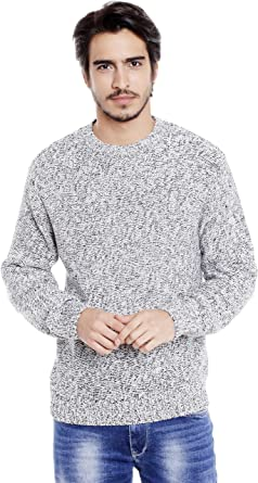 77be46a7496 Globus Off-white Sweater for Men  Amazon.in  Clothing   Accessories