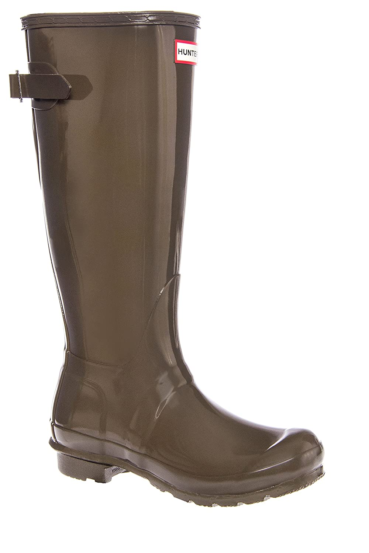Hunter Womens Original Back Adjustable Gloss B017C1WYQ2 6 B(M) US|Swamp Green Gloss