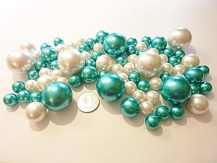 Amazon 80 Turquoise White Pearls Jumbo And Assorted Sizes