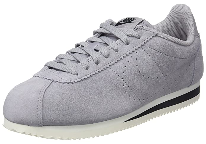 Mens Classic Cortez Suede Gymnastics Shoes, Grey (Atmosphere Grey/Atmosphere Grey 001), 6 UK Nike