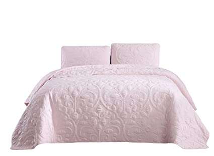 Bedding Superbeddings Pre-washed Embroidered Coverlet Set 65% Bamboo Rayon 35% Polyester Home & Garden